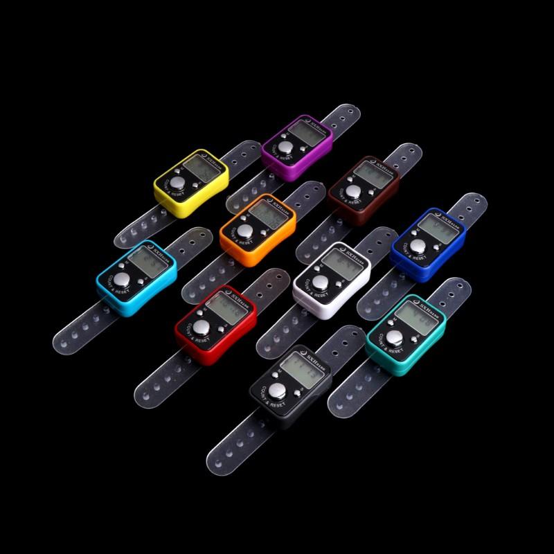 Digital Finger Ring Tally Counter LCD Screen 00000-99999 Counts Range Randomly