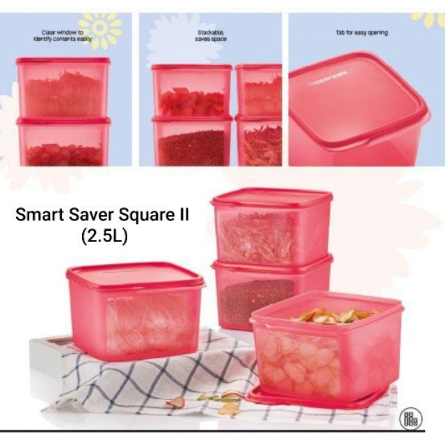 Tupperware Smart Saver Square II (1) 2.5L