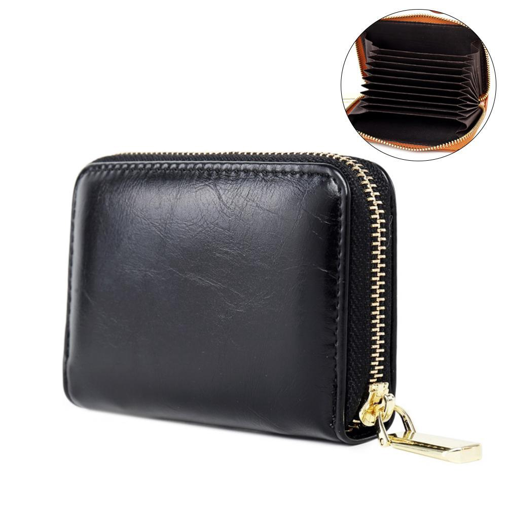 12//24 Slots Faux Leather Credit Card Case Purse Soft Pocket ID Holder Sell