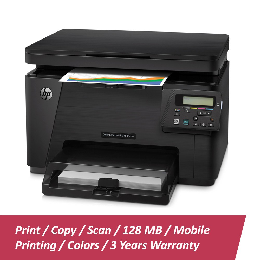HP Color LaserJet Pro MFP M176n Printer CF547A