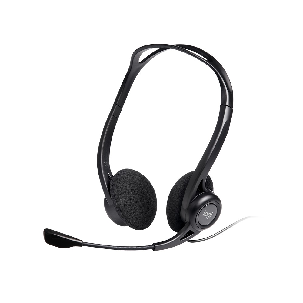 Logitech H390 Wired Headset, Stereo Headphones with Noise-Cancelling Microphone, USB, PC/Mac/Laptop - Black