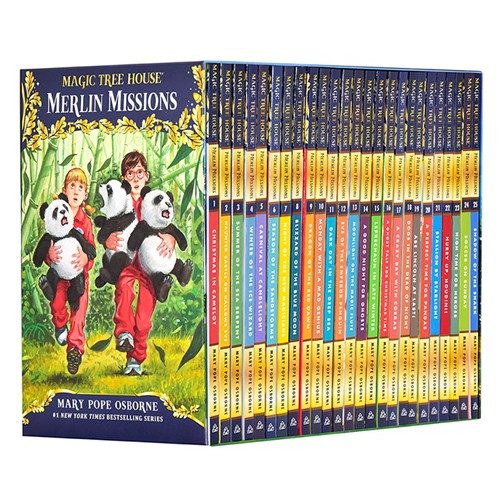 Magic Tree House Merlin Missions 29-53/English original books