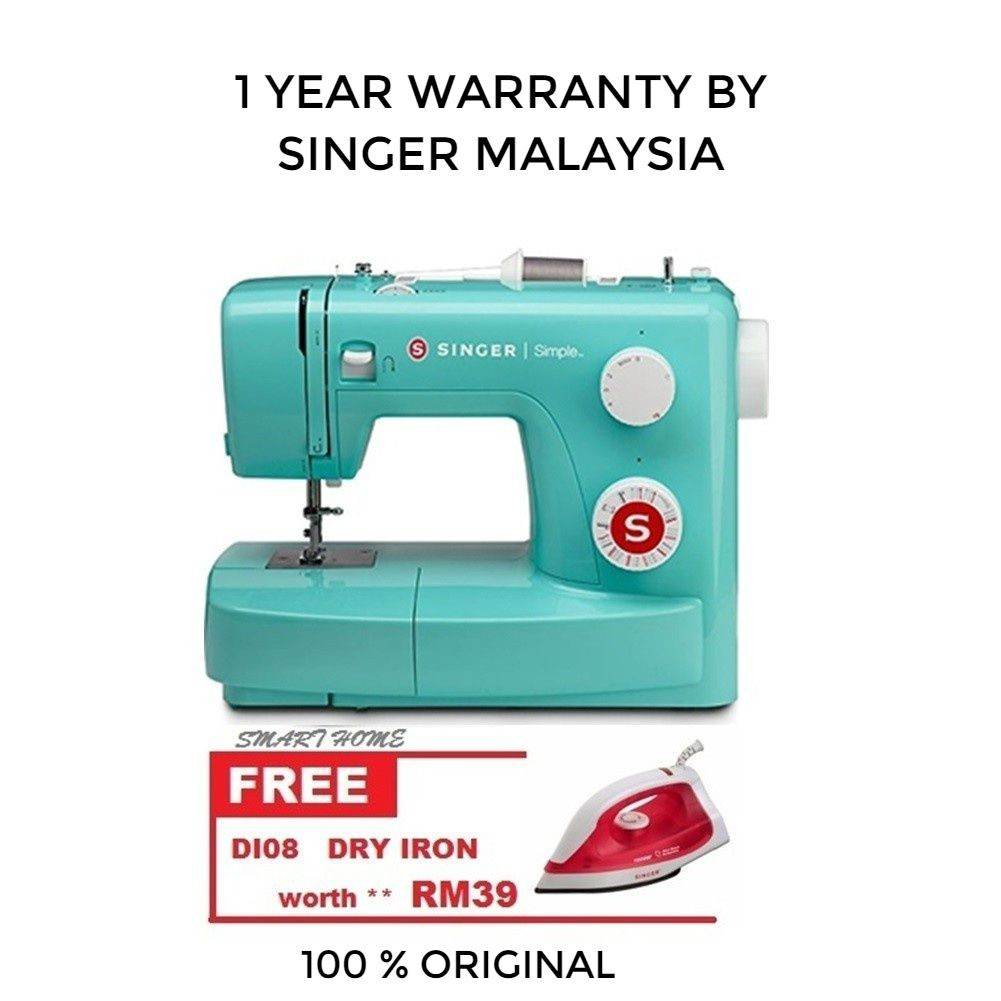 Singer 3223g Colored Simple 23 Stitch Essential Sewing Machinegreen Mesin 1306 Shopee Malaysia
