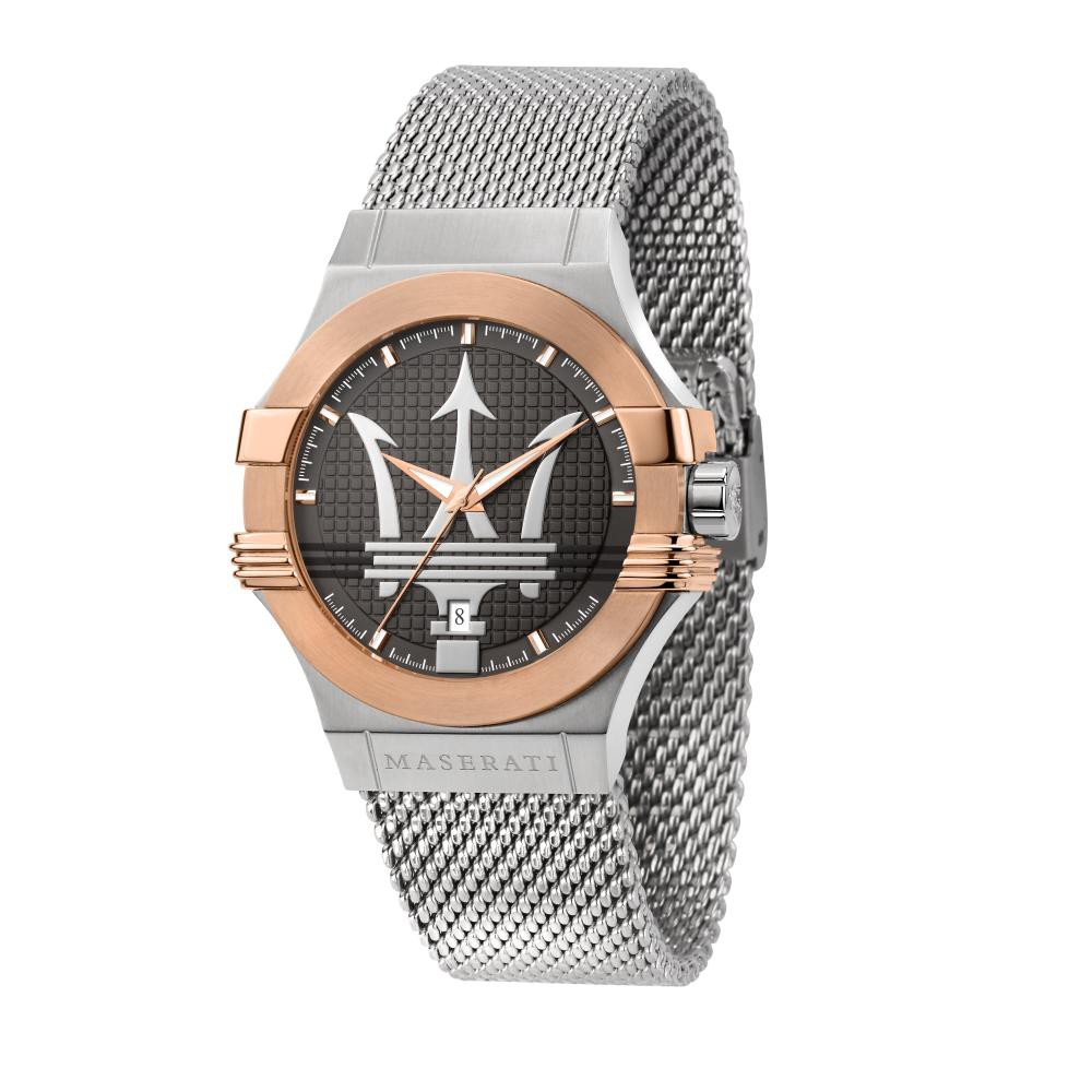 Maserati Potenza Metal Band Quartz Silver Watches R8853108007