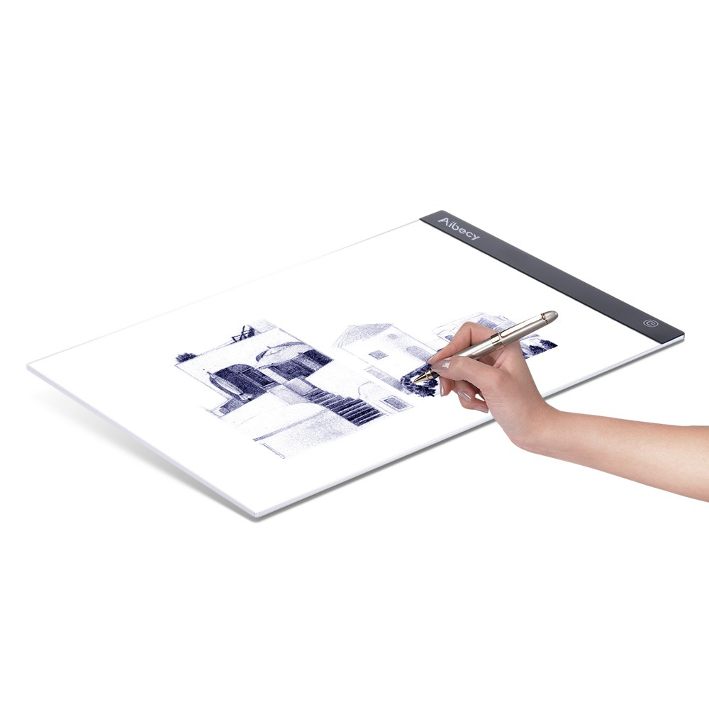 Aibecy Portable A4 LED Light Box Drawing Tracing Tracer Copy Board Table Pad USB