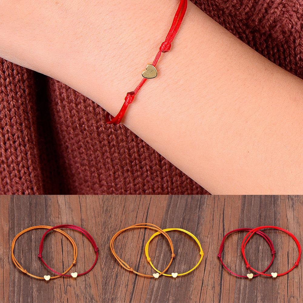 67c7e42538e4d6 Multicolor Heart Bracelet Handmade Rope Adjustable String Lucky Bangle  Jewelry | Shopee Malaysia