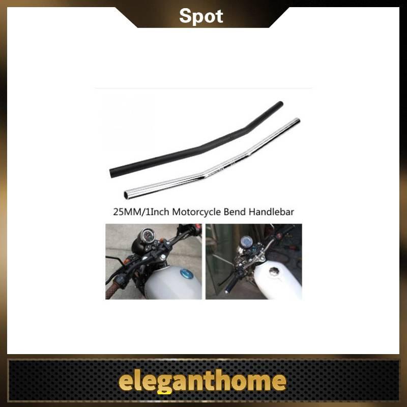Motorcycle Handlebar 25 mm 1 Inch Motorcycle Retro Bend Handlebar Metal 28 Inch Length Universal
