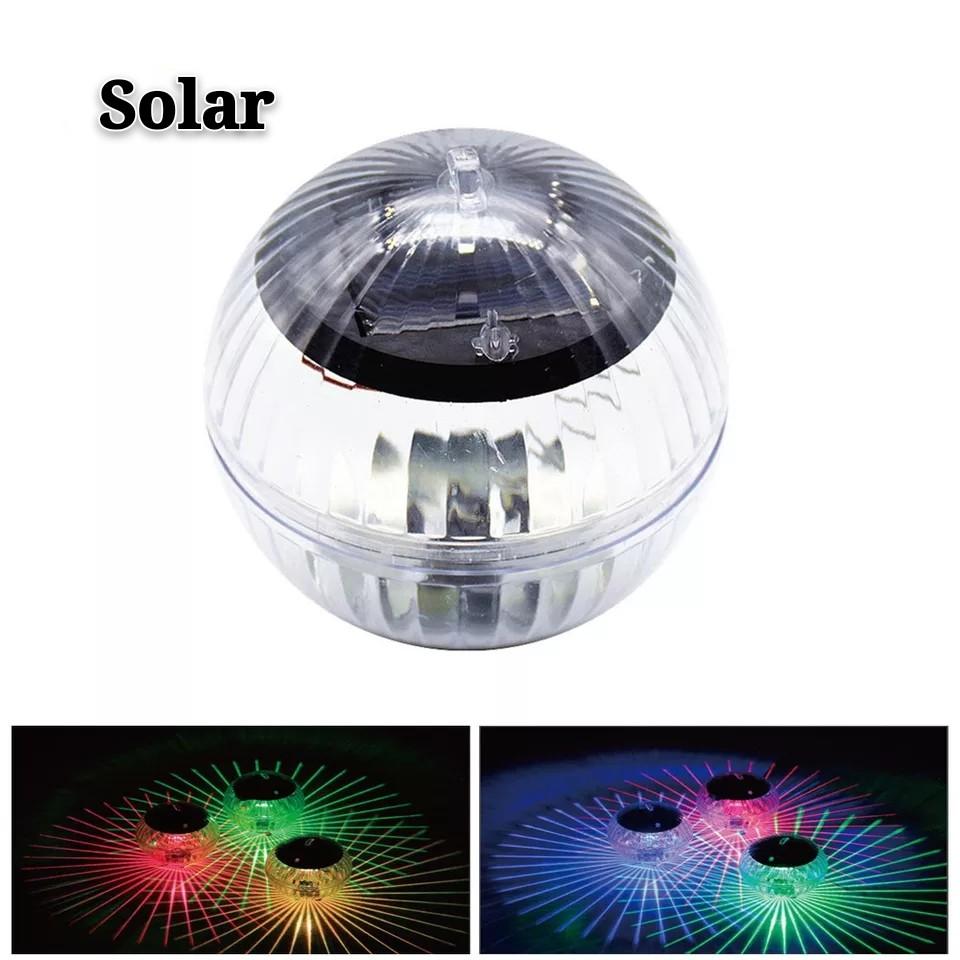 [ READY STOCK ]  Solar Water LED Beam Waterproof Pool Floating Light Jualan Murah Flash Lampu Pelita Lamp Street Ball