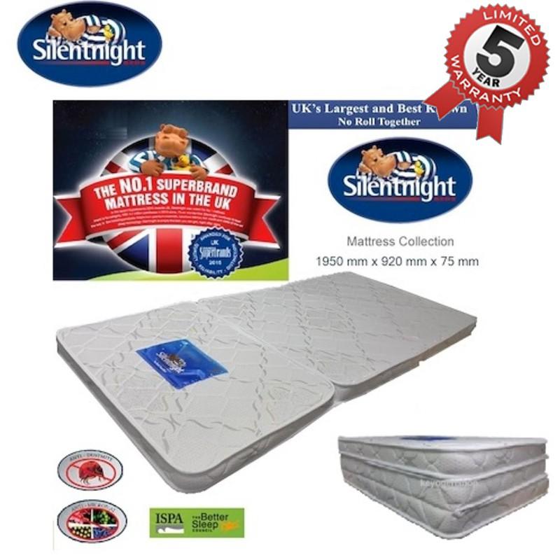 UK Branded Silentnight tri-fold foldable single size mattress