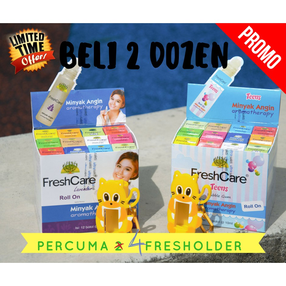1 Dozen Freshcare Minyak Angin Aromatheraphy Fresh Care Shopee Roll On Hot 10 Ml 4 Botol Malaysia