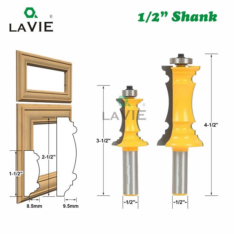 2pcs//Set 1//2/'/' Shank Handrail Router Bit For Woodworking Line Cutter Tool