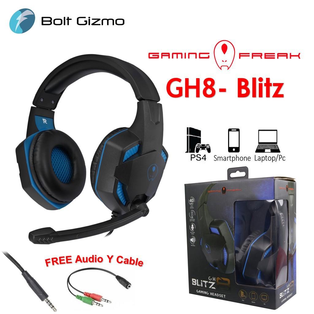 GAMING FREAK GH8-BLITZ GAMING HEADSET GH8 BLITZ PC CPU COMPUTER HEADPHONE