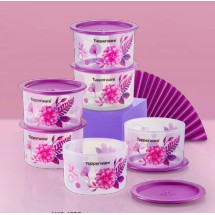 Tupperware Kitchen Food Container Keep Freshness Cookie Storage Airtight Seal Polka Pearls One Touch Topper 600ml 6 in 1