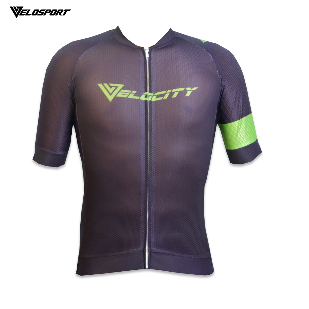 VELOCITY Premium Quality Cycling Jersey With Italian Tape Short Sleeve Jersey 4 Material Jersey Top