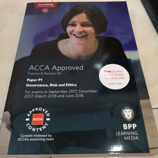 BPP ACCA P1 GOVERNMENCE, RISK AND ETHICS: PRACTICE & REVISION KIT