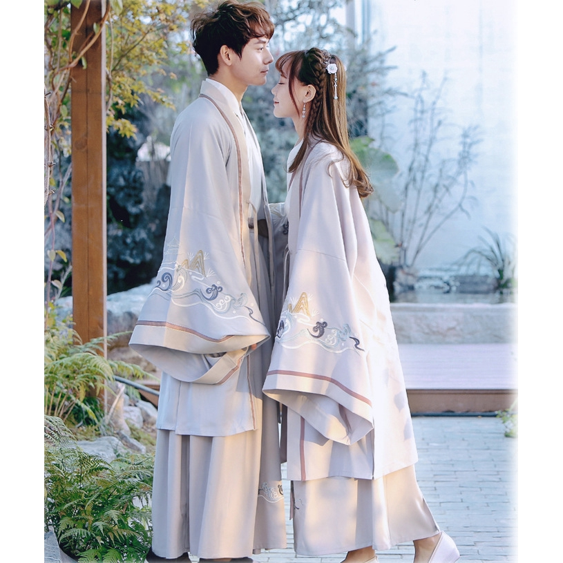 Embroidered Traditional Chinese Hanfu Suit Women Men CP Ancient Costume Dress
