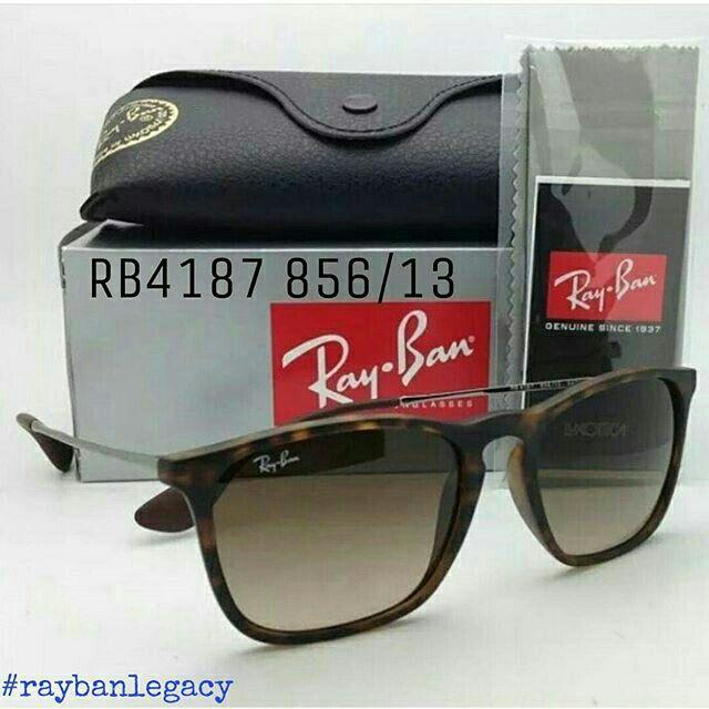bb2e938d24  ORIGINAL  Rayban Chris RB4187 856 13 Tortoise Frame Gradient Brown Lens  -54mm