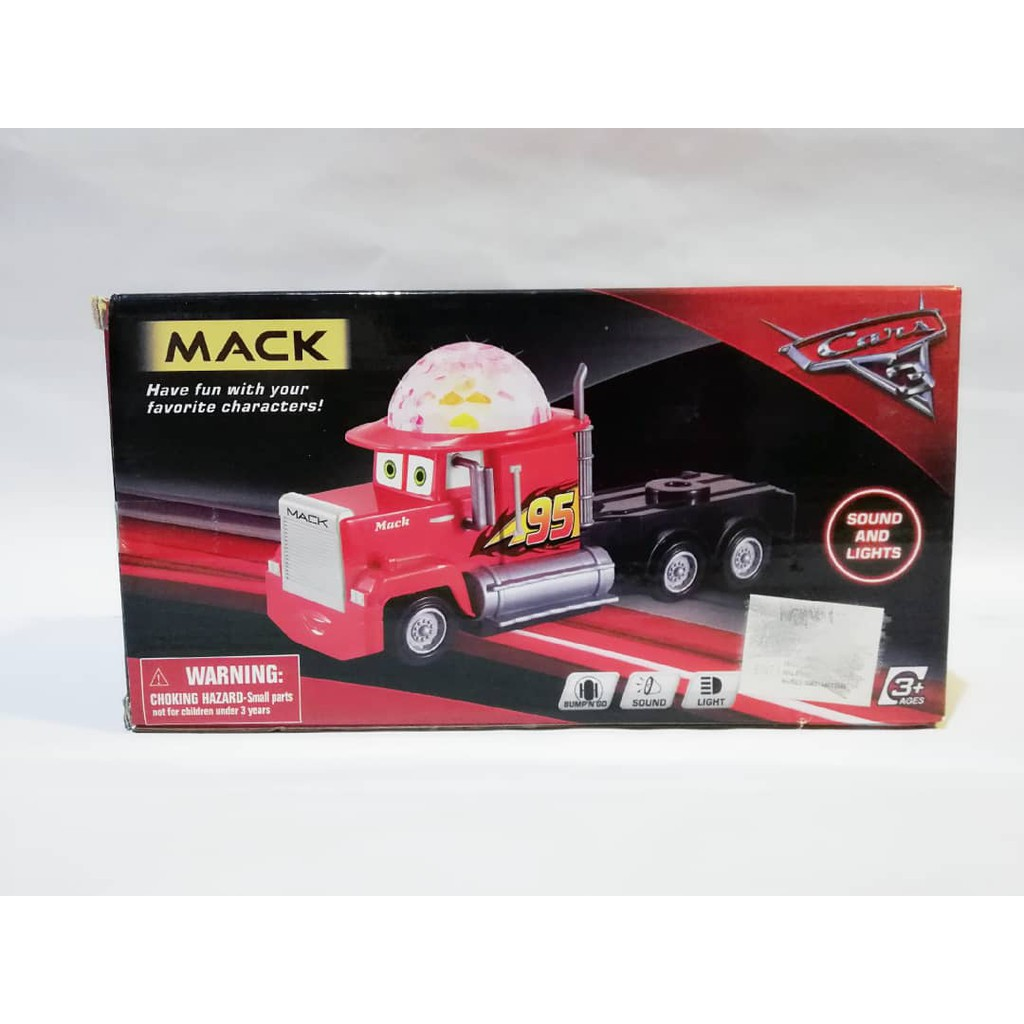 Pixar Car Mack Racer MCQueen Sound and Lights Bump N Go