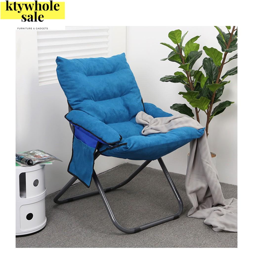 Simple Office Recliner Single Creative Fabric Folding Chair Sofa Kerusi Malas Single /sofa murah/Lazy Sofa