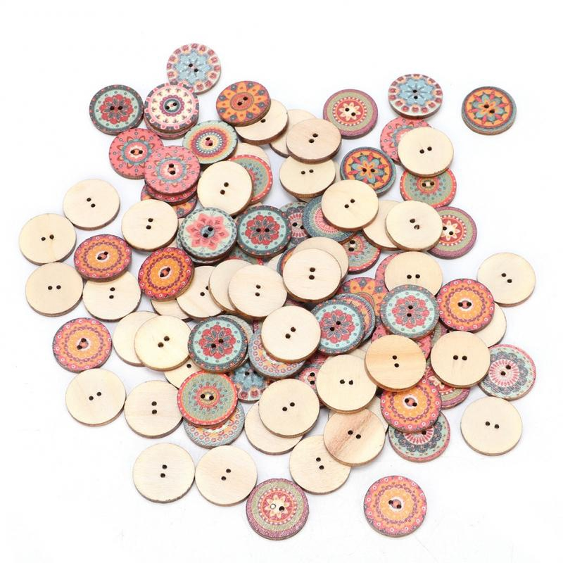 Scrapbooking-16mm 50//100X 2-Hole smiley pentagram Star Wooden Buttons-Sewing