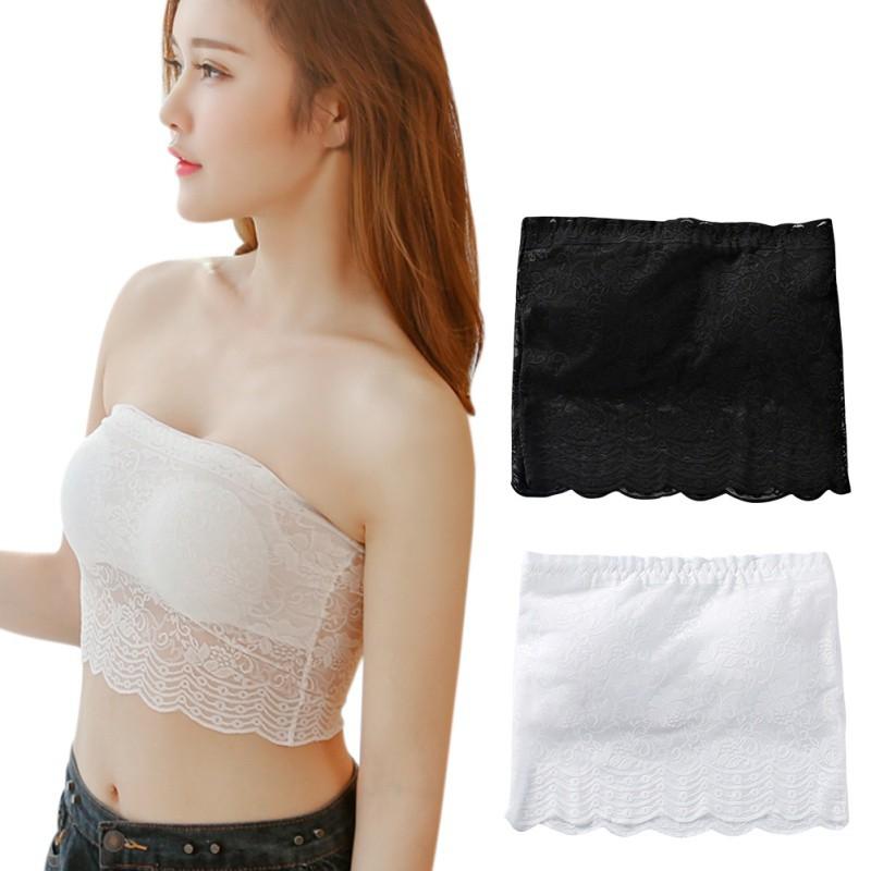466c623e18b Super beauty spot strapless tube top plain cotton girl anti-glare underwear  | Shopee Malaysia