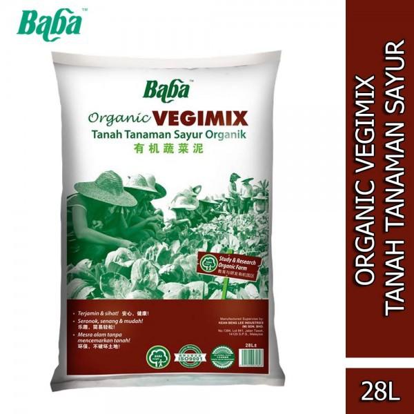 Baba Smart Grow Organic Vegimix Soil Tanah Kebun Sayur 28L