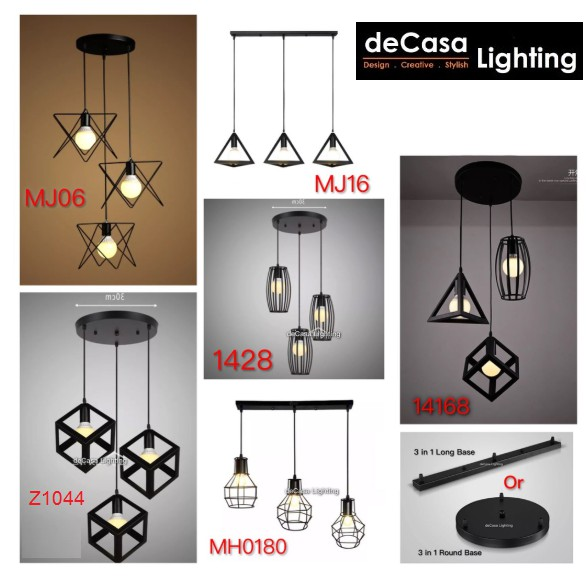 Add On Bulb Deal🔥 Decasa Lighting Ceiling Pendant Light Lampu Gantung Hanging Light Ikea