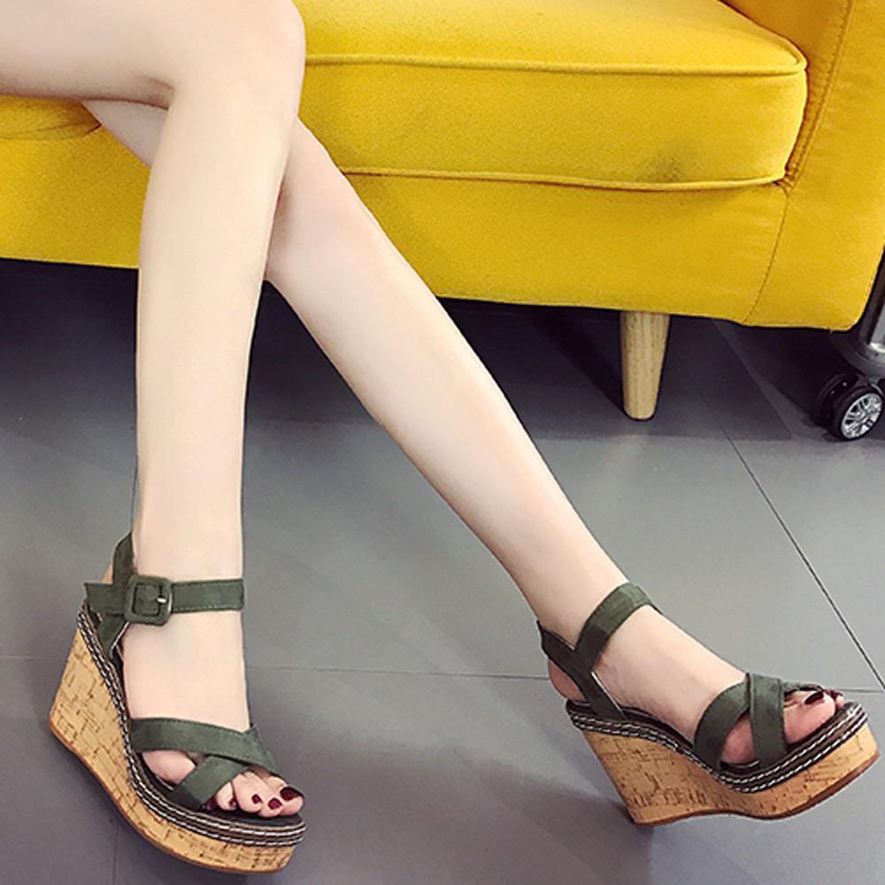 abd6548d1ed Simple Suede Wedge Heel Comfort Women's Shoes