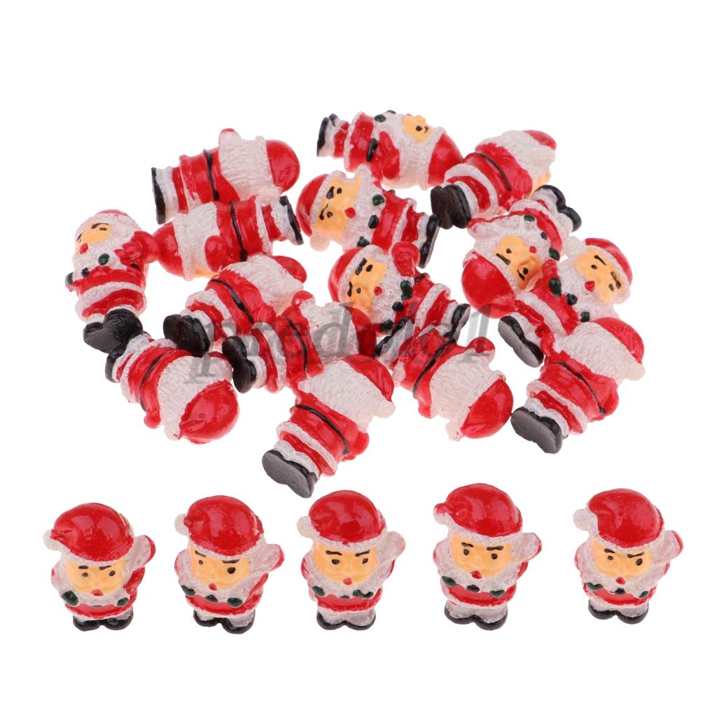 42fd1675c7a 20pcs 1/12 Dollhouse Miniature Santa Claus Model Cistmas Life Scenes Decor