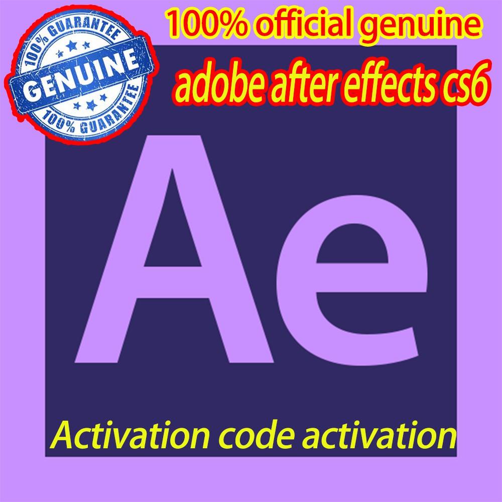 Adobe After Effects CS6 download link for 100% genuine activation code