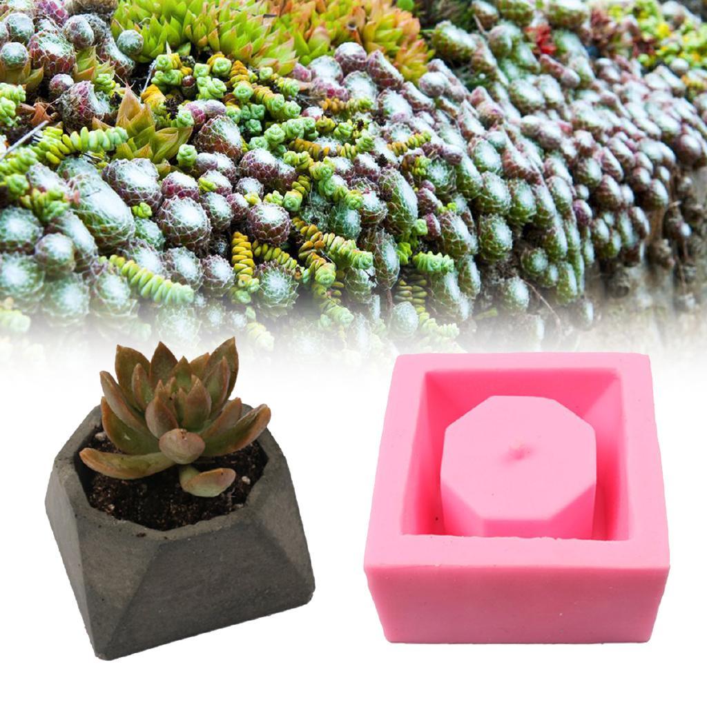 Handmade Geometric Silicone Flower Pot Mold Succulent Planter Vase Mould  sc 1 st  Shopee Malaysia & Handmade Silicone Flower Pot Mold 3D Geometric Concrete | Shopee ...
