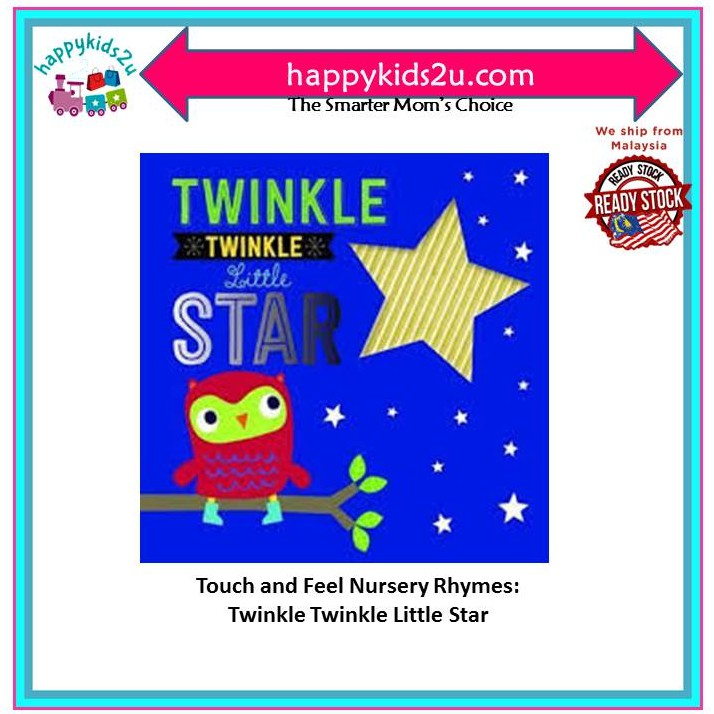 [Ready Stock] Touch and Feel Nursery Rhymes: Twinkle Twinkle Little Star