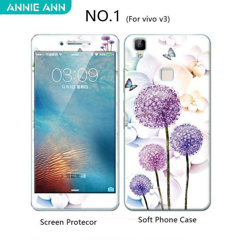(AnnieAnn)VIVO เคส vivo v3 v3max TPU Soft Phone  เคส +Tempered