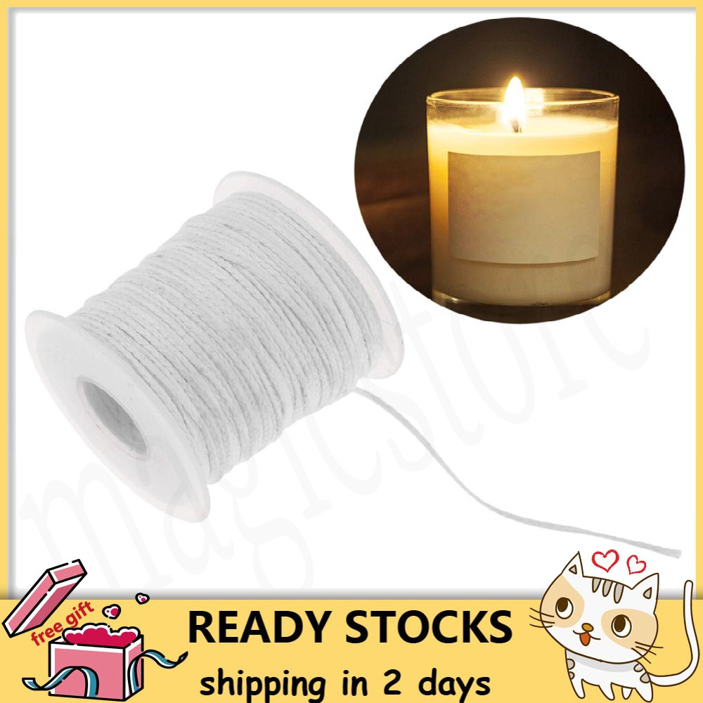 200pcs Candle Wicks,6 Inches Pre-Waxed Natural Cotton Core,No Smoke Design for Candle Making,Candle DIY