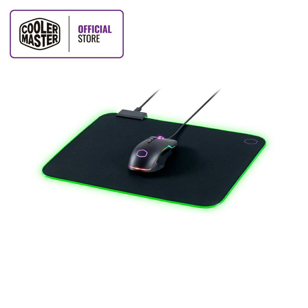 Cooler Master MP750 Gaming RGB Mousepad, Soft Fabric Surface, Splash-proof, Anti-fray Stitching Non-Slip Rubberized Base