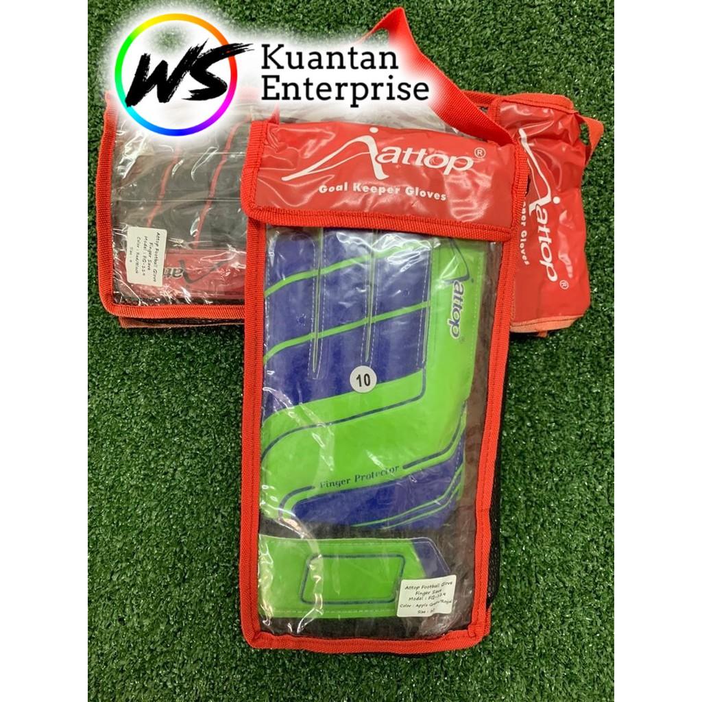 【100% Original】 Attop Goalkeeper Glove | Sarung Tangan Penjaga Gol  (Size 5~10)