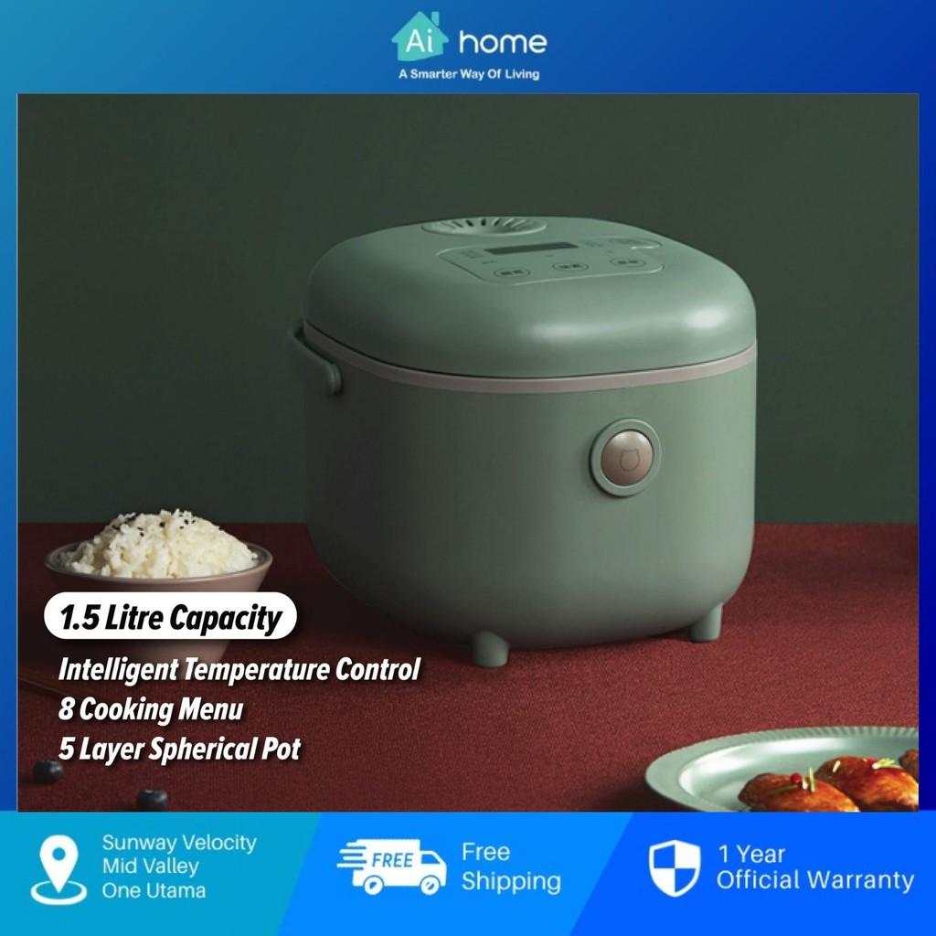 Bear Smart Rice Cooker BRC-P30L - 3L | Heat Quickly  | 8 Cooking Menu | Intelligence Temperature Control [ Aihome ]