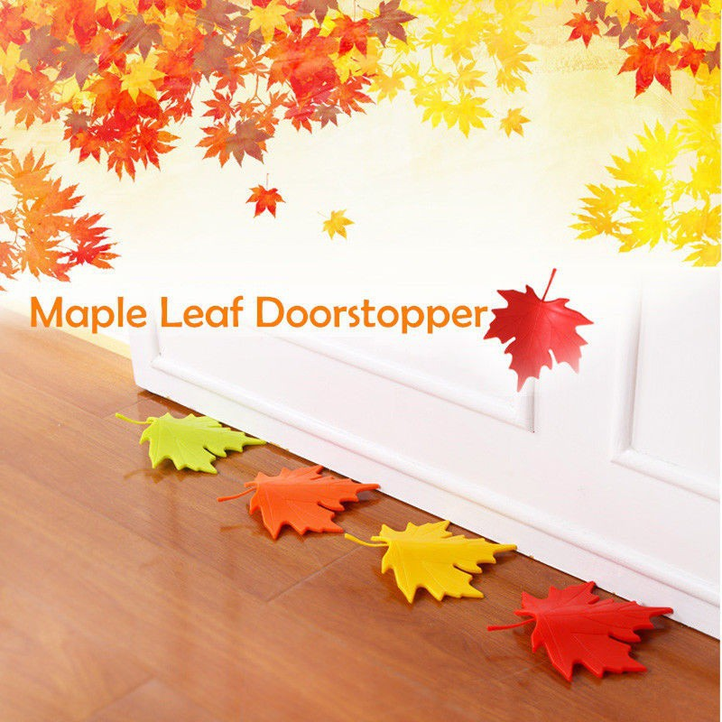 Maple Autumn Leaf Style Home Decor Finger Safety Door Stop Stopper Doorstop Door Stops