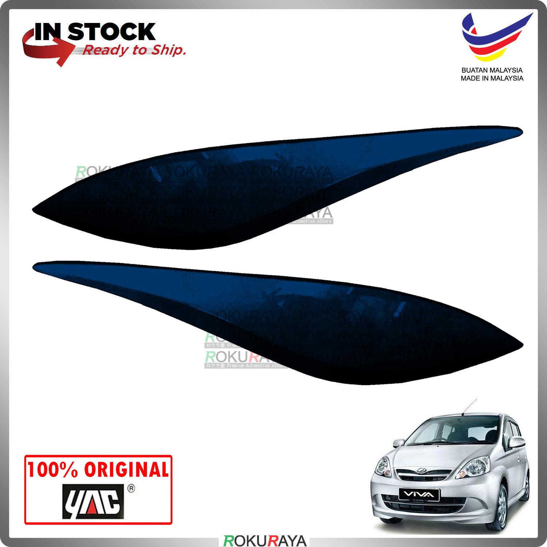 [B71 MIDNIGHT BLUE] Perodua Viva ABS Plastic Car Head Lamp Eye Lid Brow Cover Original Car Accessories Parts