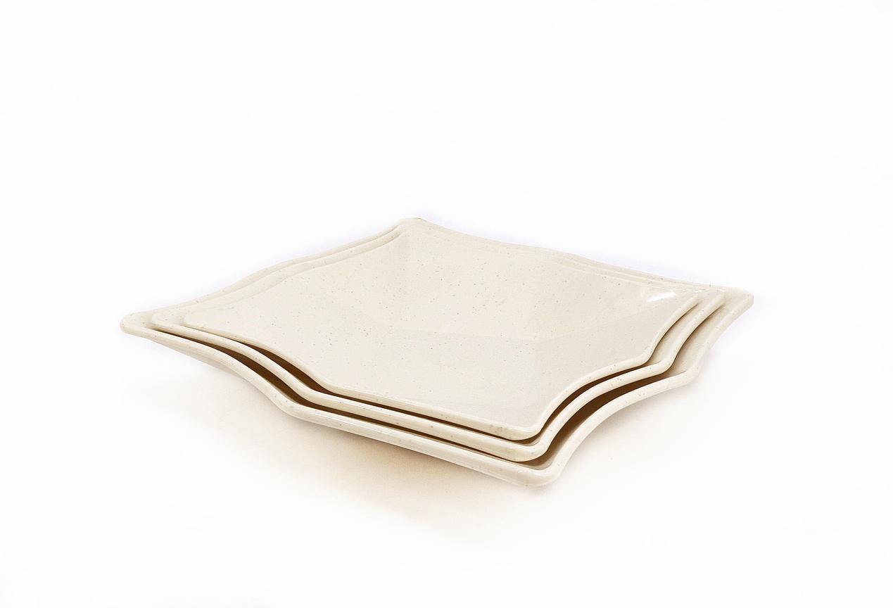 Toyogo dining plate Set F 3 in 1 / piring set 3 dalam 1