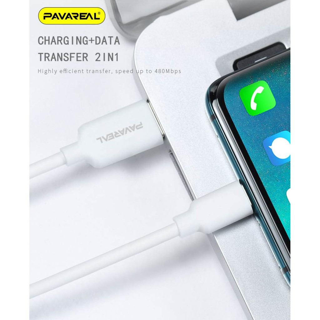 PAVAREAL PA-DC 111 112 113 Micro Type-C Lightning VOOC Qualcomm 6A Max Fast Charging Sync Data Cable