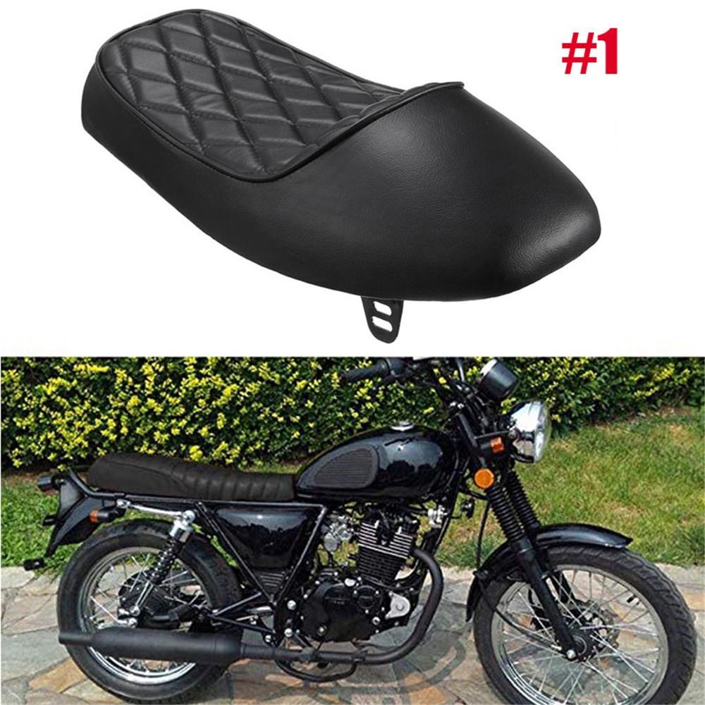 Motorcycle Parts Vintage Hump Black Cafe Racer Seat For Honda CB125S CL100 CL350 CL450