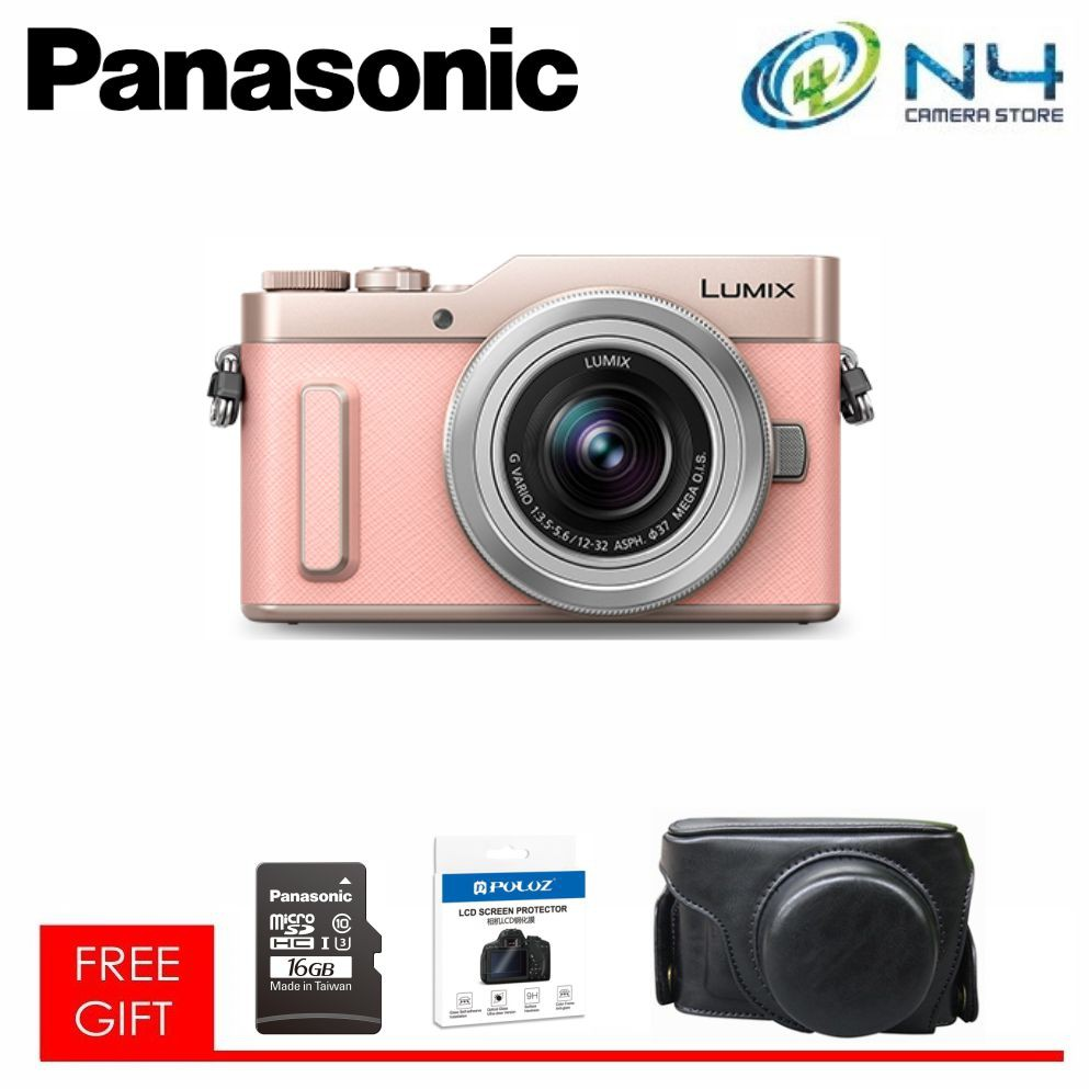 Panasonic Lumix DMC-GF10 (12-32mm) + Micro (16GB) + Camera Case + Template Glass