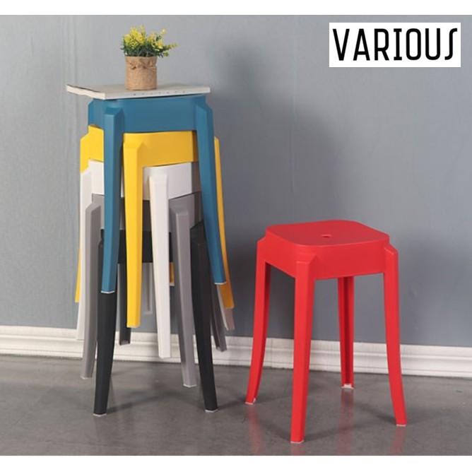 (Ready Stock) VARIOUS Premium Designer SQUARE Cafe PP Stool/ BANGKU PLASTIC