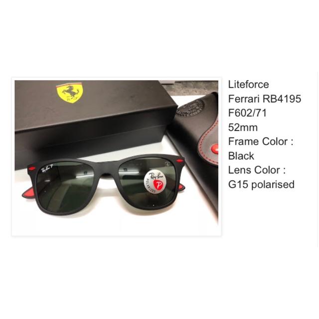 70372f8726d 100% Original Rayban Ferrari LiteForce RB4195 F602 71