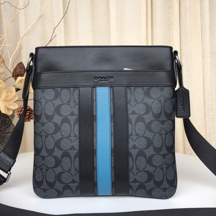 9b9c9e5a Shoulder bag COACH CHARLES CROSSBODY IN SIGNATURE CANVAS WITH VARSITY  STRIPE: F2
