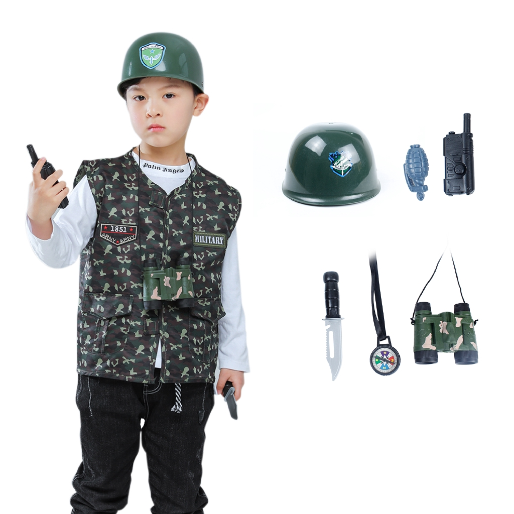 KIDS BASEBALL HAT CAP CAMO ARMY MILITARY SOLDIER FANCY DRESS COMBAT KIDS