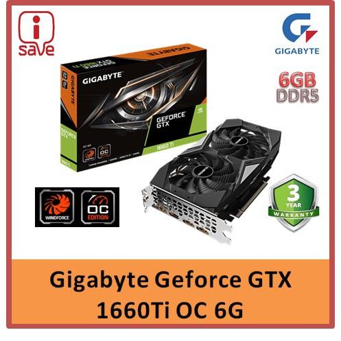 GIGABYTE GeForce® GTX 1660 Ti OC 6G [GV-N166TOC-6GD] | (100% Brand New &Original Gigabyte)