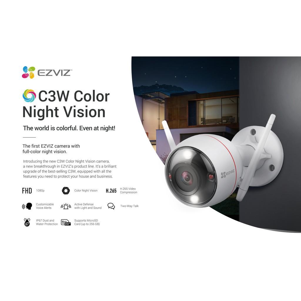 Ezviz C3W Color Night Vision 1080P Full HD IP67 Weatherproof Wireless WiFi IP Camera