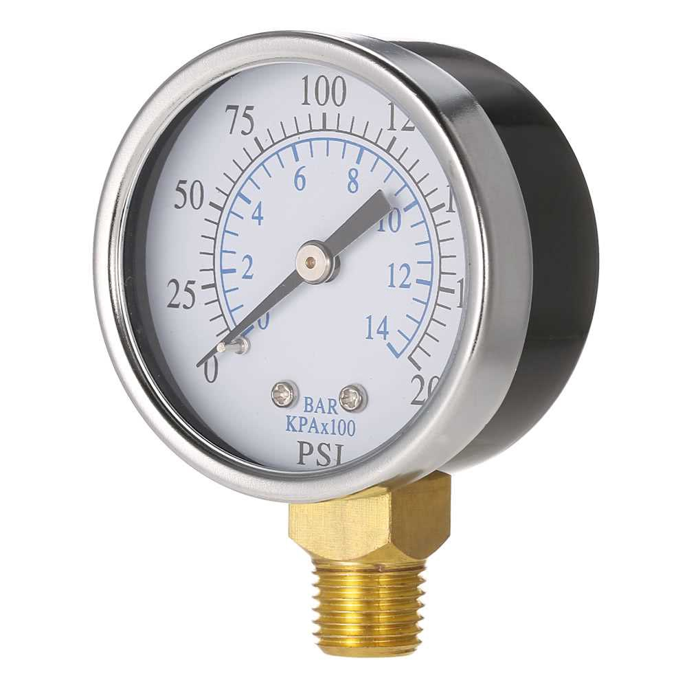Mini Round 0~-30inHg 0~-1bar 50mm/ Pool Filter Pressure Dial Air Vacuum Meter Pressure Gauge